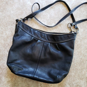 Coach Leather Hobo Bag with Detachable Strap